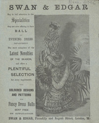 Advert for Swan & Edgar, dressmakers